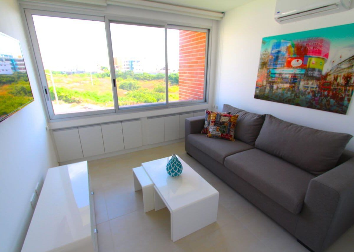 Living Room Beach Condo Ecuador