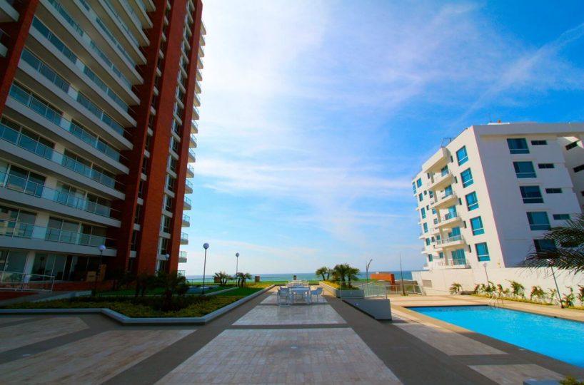 Beachfront Condo Building Pool Area