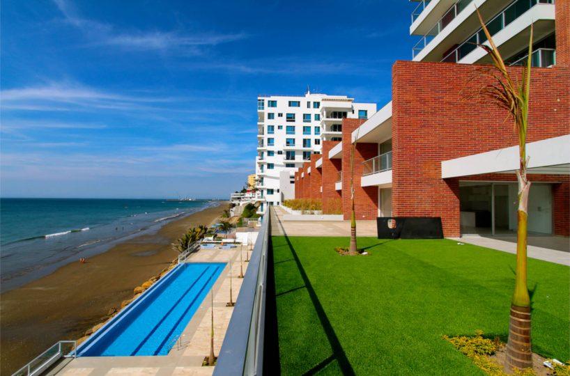 Beachfront Pool Condo Building