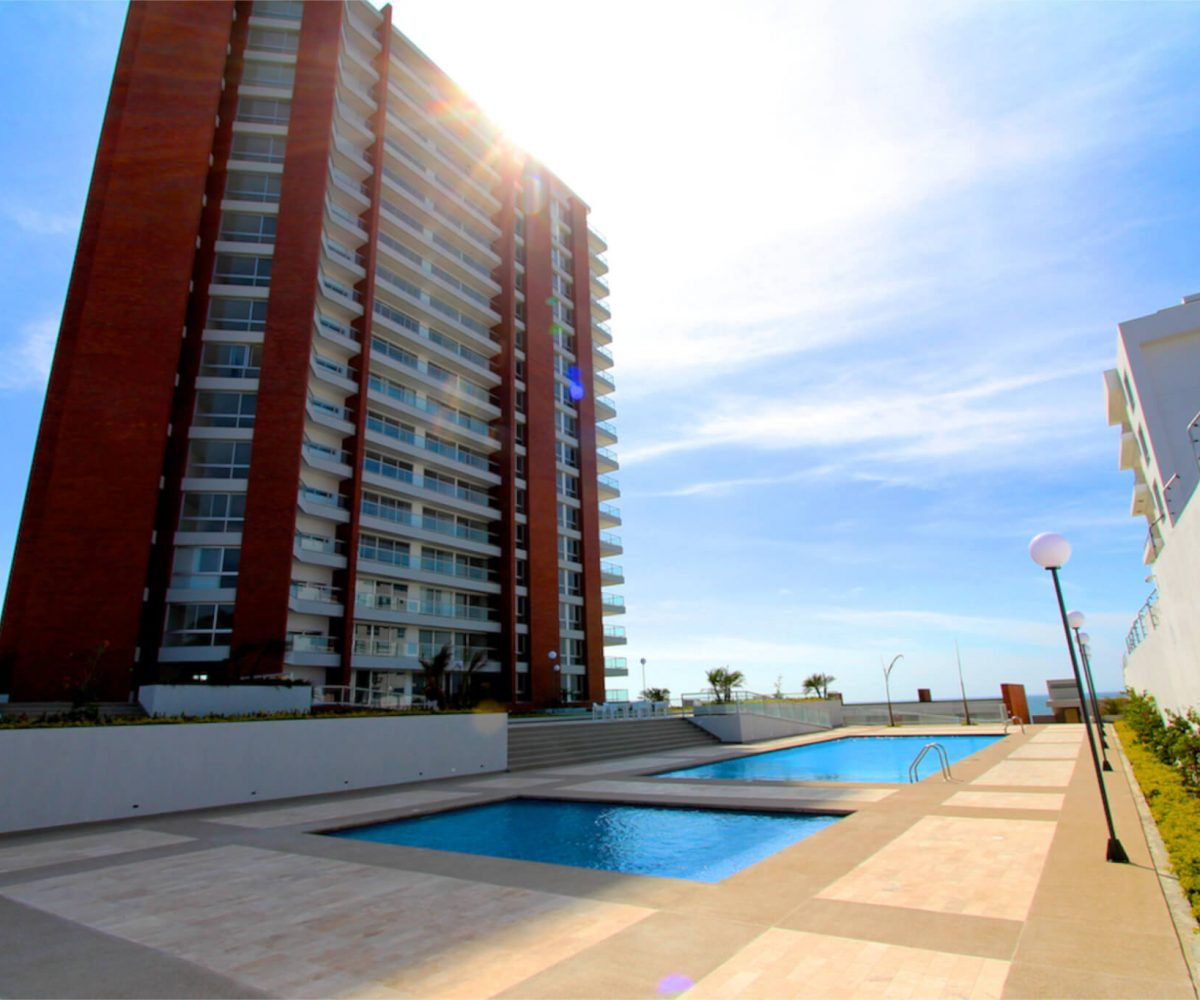 Pool and Condo Building
