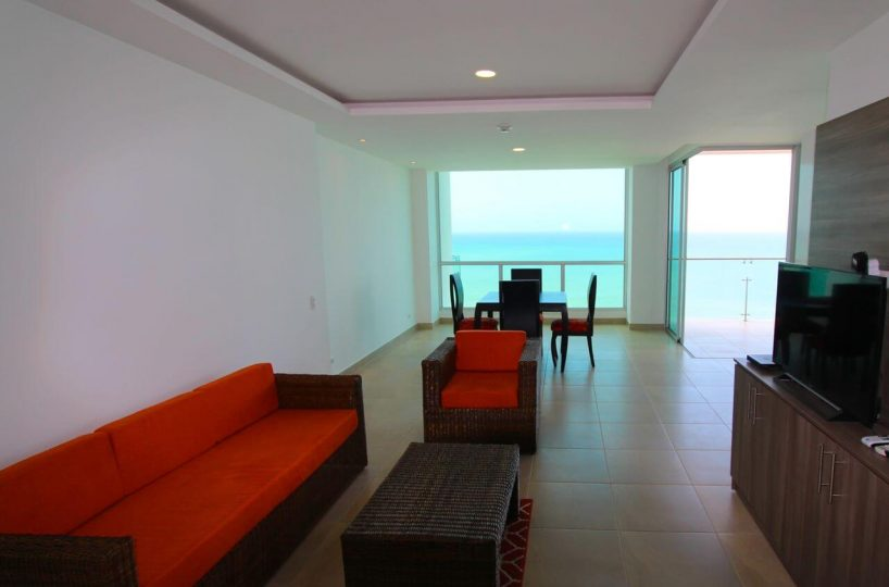 Beachfront Condo Living Room