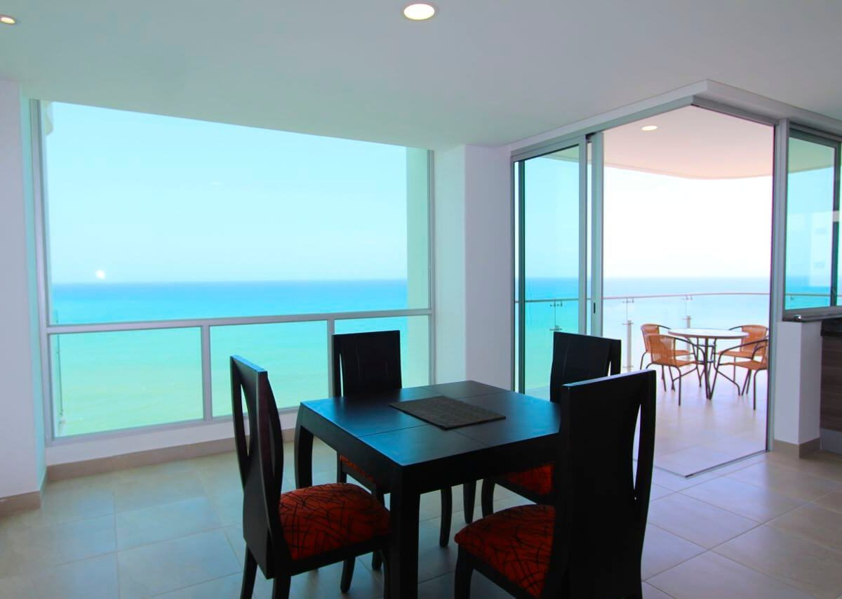 Beachfront Condo Kitchen View